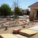 Yard riverbeds in Las Vegas